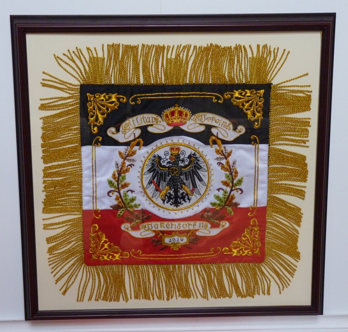 German state coat of arms with fringe - recent forgery