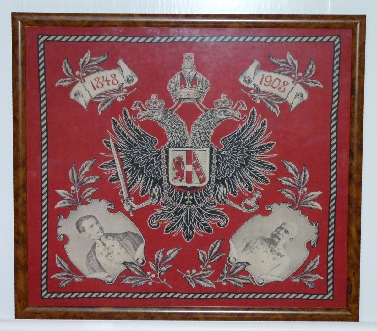 Double eagle with Franz Joseph - scarf