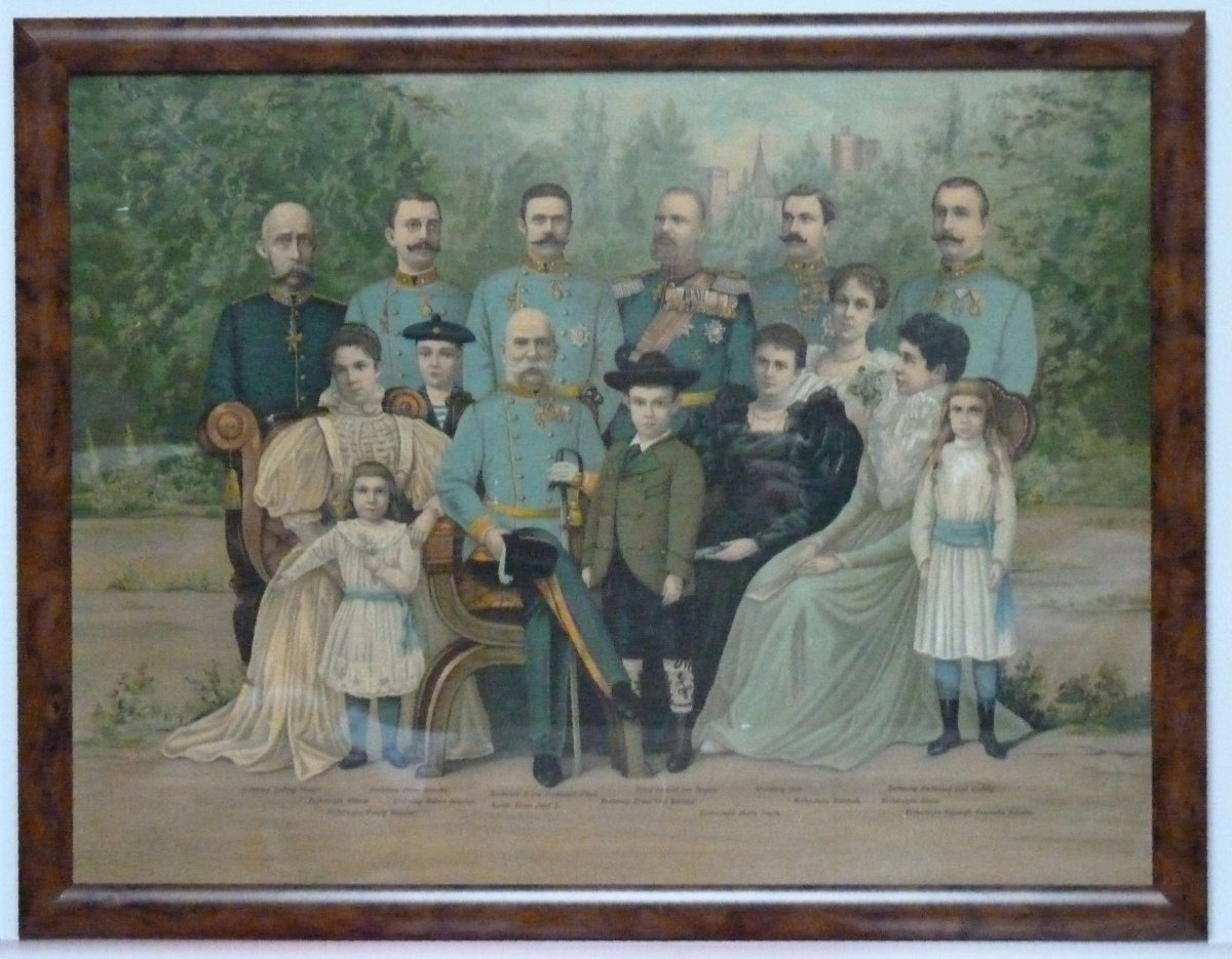 Franz Joseph and his family