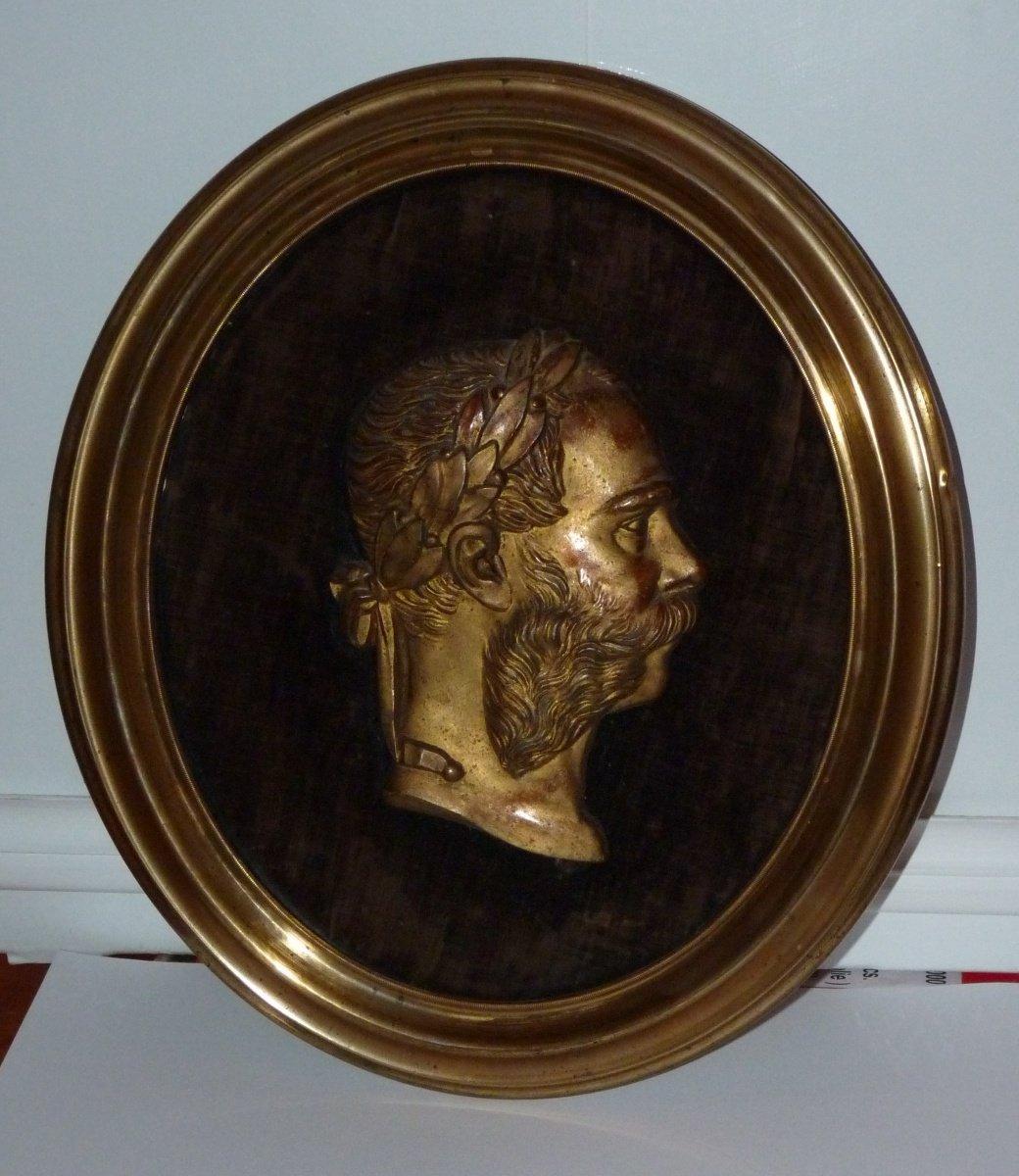 Franz Joseph in oval frame