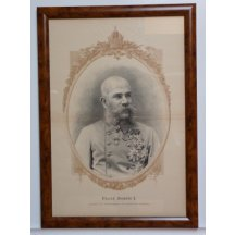 Franz Joseph in flower frame with crown