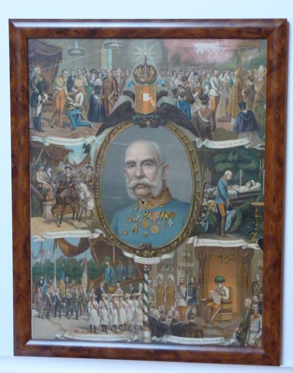 Franz Joseph and paying hold to emperor