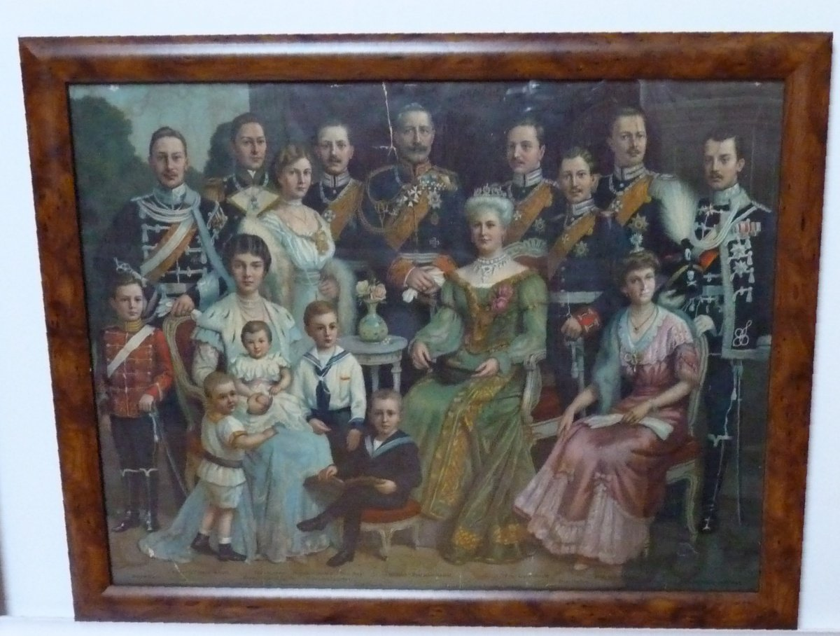 Emperor's family with children