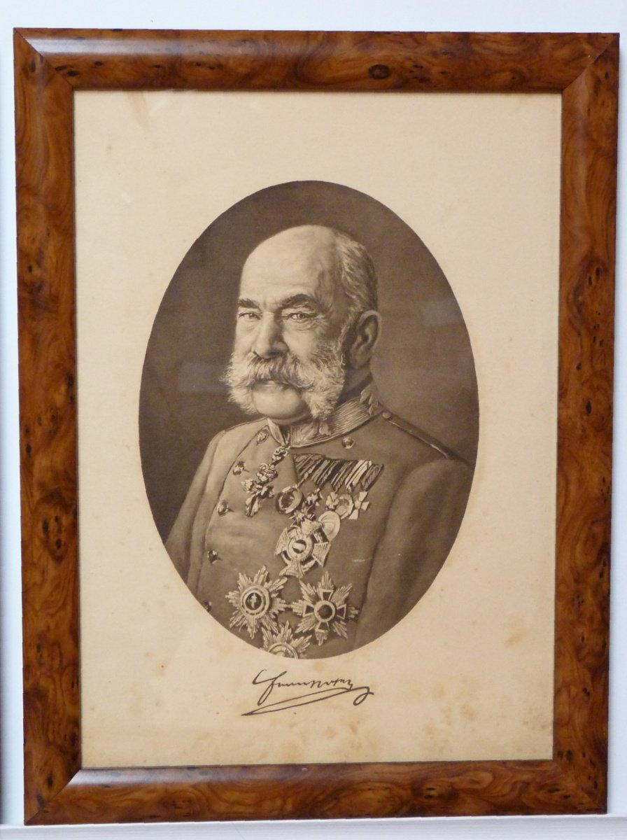 Portrait of Franz Joseph in oval frame