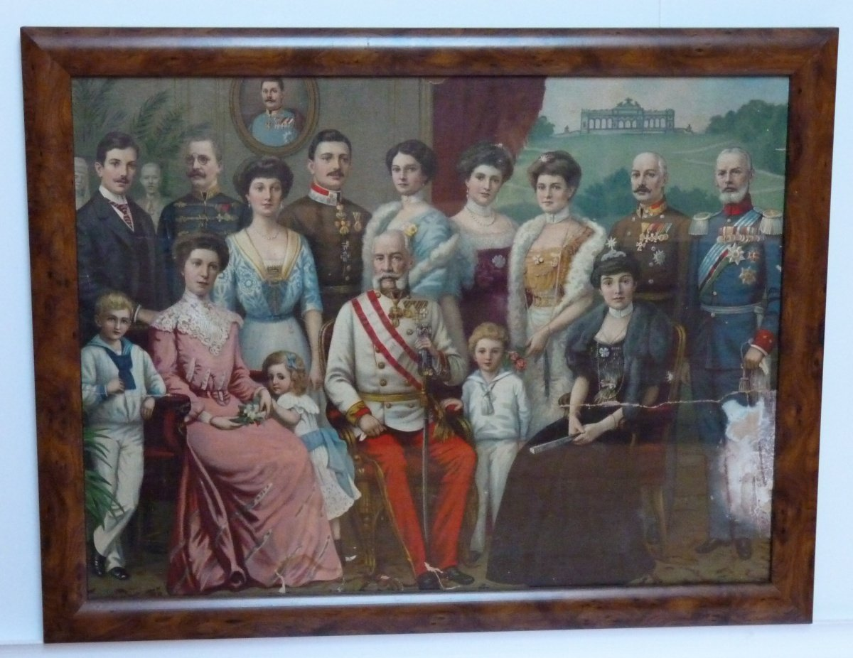 Color paintings of Franz Joseph's family