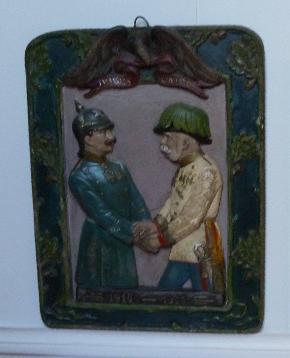 Ceramic picture of two European emperors