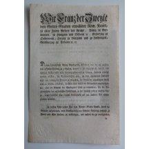 Cirkulář Františka II. k vydání bankovek 1 a 2 guldenů