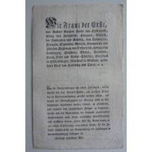 Cirkulář Františka Josefa I.- na vydání mincí 1/4, 1/2 a 1 Kreutzer