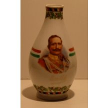 Emperor Wilhelm in uniform , on hungarian jug