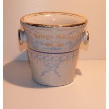 Decorative porcelain mortar