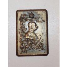 Bronzová plaketa s Františkem Josefem