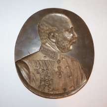 Portrét císaře Franz Josefa I.- pro výrobu voskových odlitků