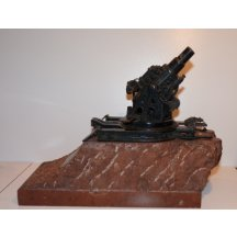 Fat Bertha - made in Skoda Pilsen - bronze maquette of cannon