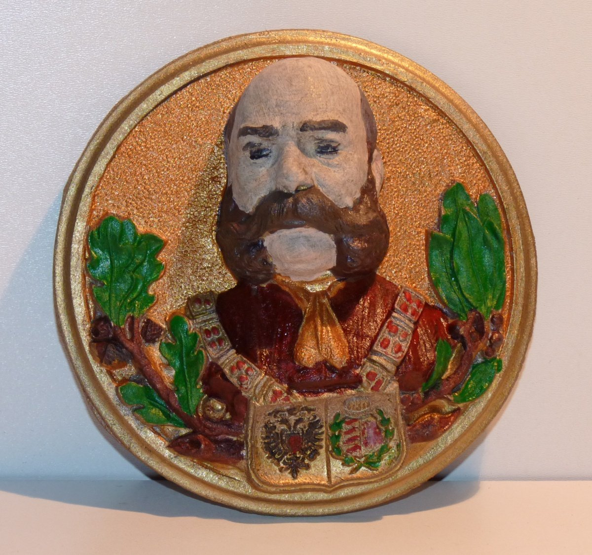 Modern plaque with portrait of Franz Joseph