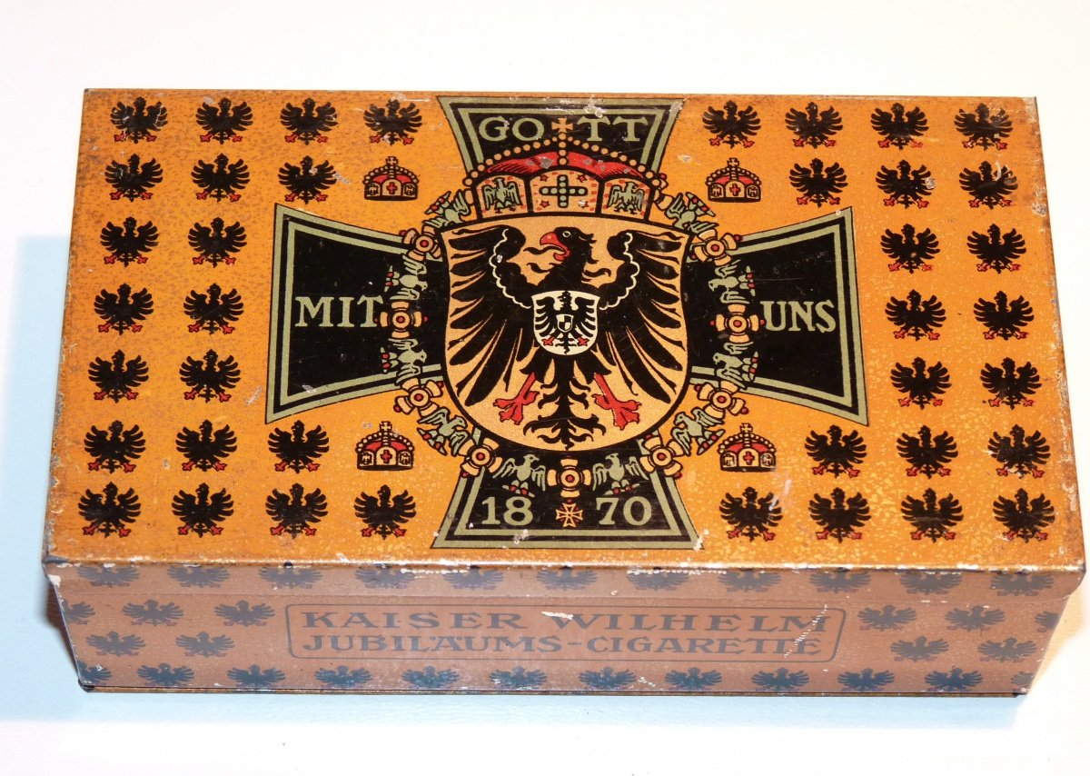 Jubilee pack of cigarettes of Wilhelm II.