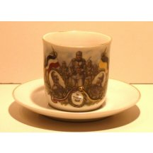 Cup with Franz Joseph , Wilhelm , soldiers and war motif