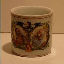 Cup with Franz Joseph , Wilhelm , eagle and national emblem