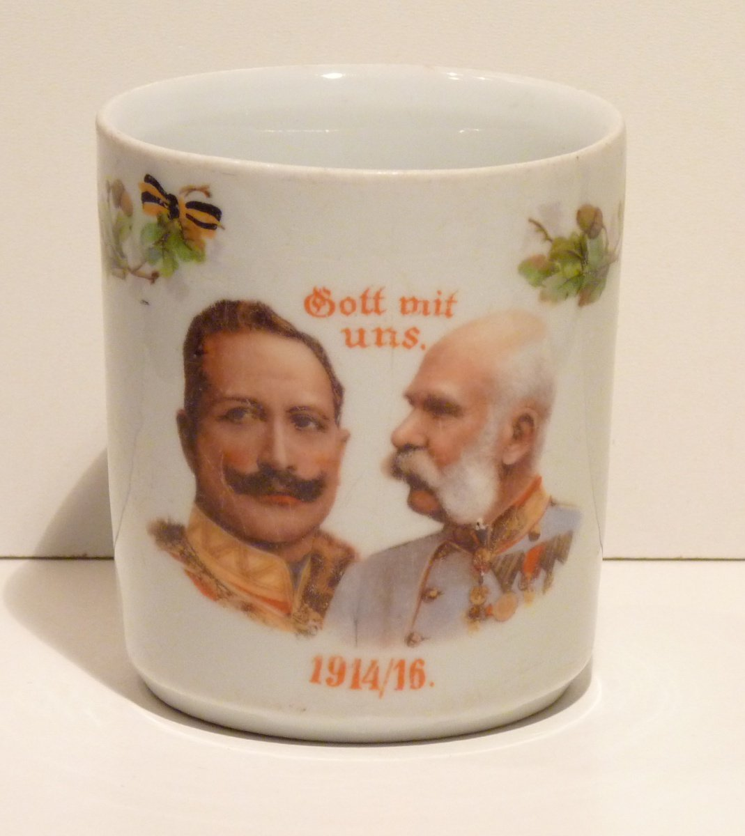 Cup with portraits of Franz Joseph and Wilhelm