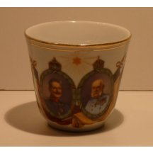 Wilhelm and Franz Joseph in decorative boxes on cup