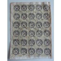 Listina s třiceti kusy 20 guldenových kolků