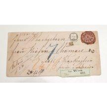 Lístek - nádražní dopisvy frankovaný 5 Kr kolkem