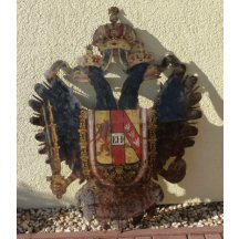 Rakouská orlice s iniciály Franz Josefa I.