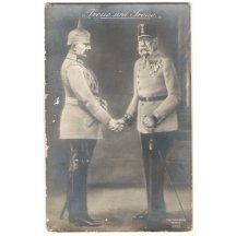 Loyalty : Franz Joseph and Wilhelm are shaking their hands