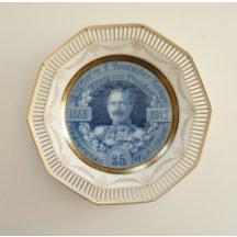 Plate with emperor Wilhelm II., 1888 - 1913
