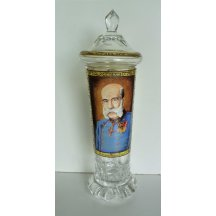Cup with lid - hand made and painted ..... extraordinary works of folk artists