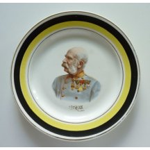 Plate with portrait of Franz Joseph I.