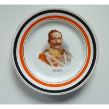 Plate with portrait of Wilhelm II.