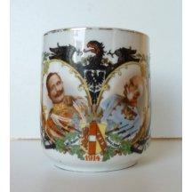 Hrníček s portréty císařů - Franz Josef a Wilhelm