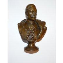 Bronzová busta císaře Viléma II. - signatura