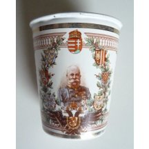 Metal cup with a portrait of Franz Josef in uniform