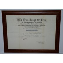 Signature of Franz Josef - CARL HAUS v HAUSEN