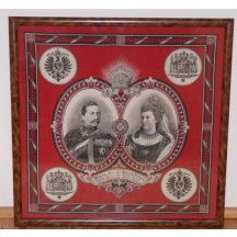 Patriotic scarf - German imperial couple ... Wilhelm and Victoria