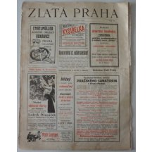 Golden Prague newspaper - with portrait of Carl and his wife Zita