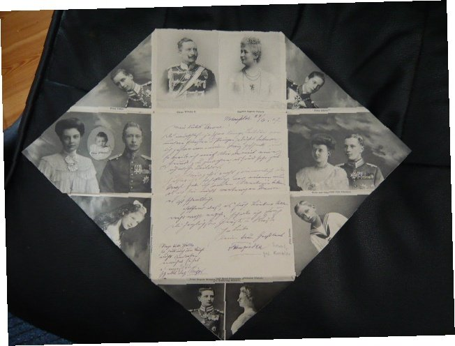 Skládaný dopis, císař Wilhelm a jeho rodina