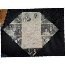 Folded letter, Kaiser Wilhelm and his family