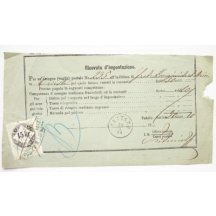 Italy - recepis franked stamp in 1915 Kr .... extraordinary