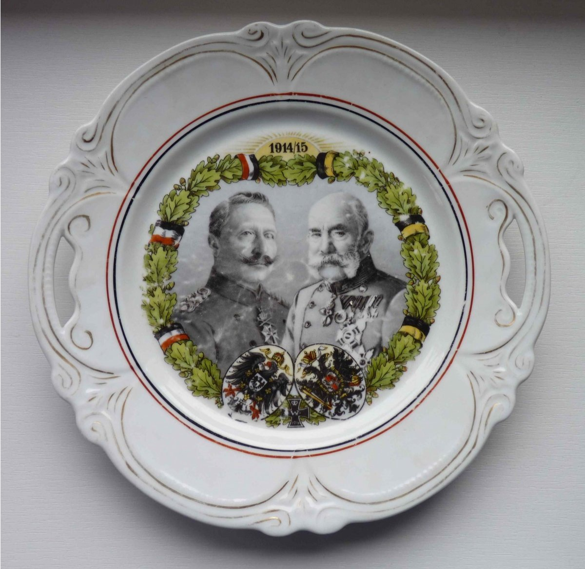 Double portraits of emperors - Franz Josef and Wilhelm
