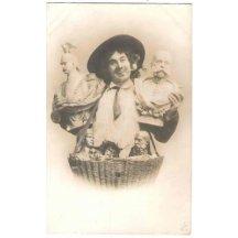 Obchodník s bustami císařů - Wilhelm II. a Franz Josef I.