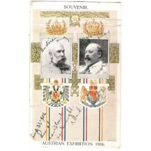 Rare postcard with portrait of the king of England and Franz Joseph