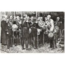 Wilhalm and emperor Franz Joseph / ministers and generals