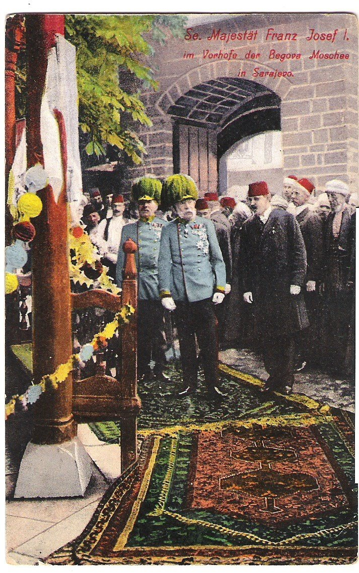 Visiting Sarajevo - Franz Joseph and representatives of the city