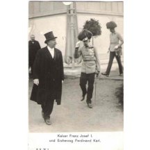 Ferdinand Karel a František Josef na návštěvě
