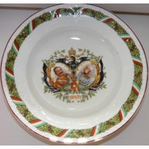 Plate with a double portrait of Kaiser Wilhelm and Franz Joseph / 1914-1915