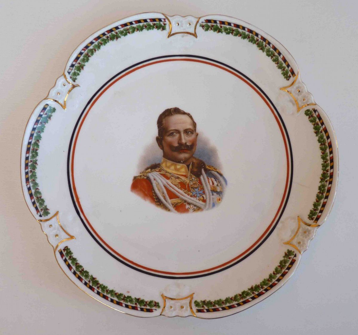Decorated plate with Kaiser Wilhelm