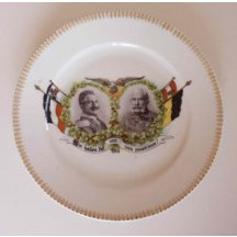 Plate with Franz Joseph and Wilhelm / 18 cm, 1914