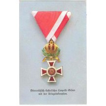 Malý soubor pohlednic s vyznamenámím - medailí